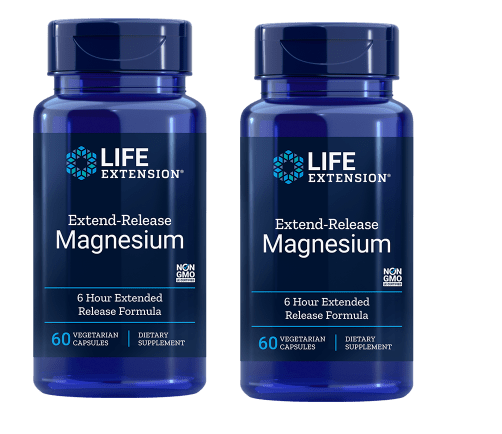 Life Extension Extend-Release Magnesium, 60 Vegetarian Capsules, 2-pack