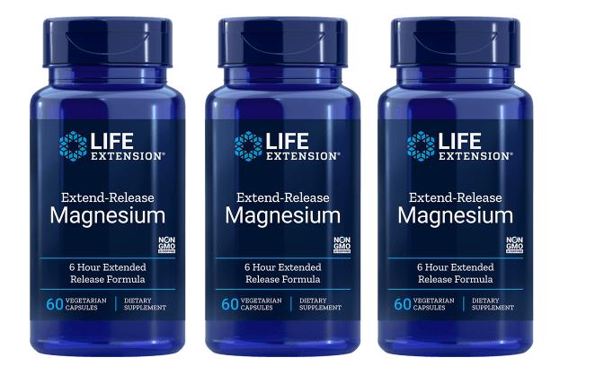 Life Extension Extend-Release Magnesium, 60 Vegetarian Capsules, 3-pack