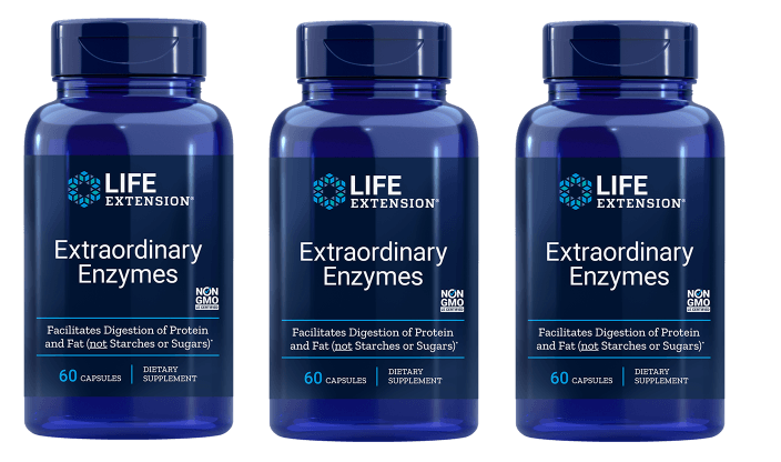 Life Extension Extraordinary Enzymes | 60 Capsules, 3-pack