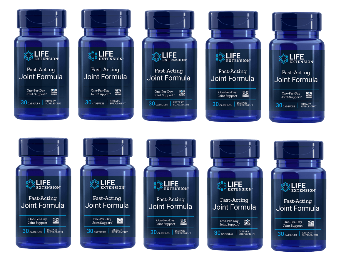 Life Extension Fast-Acting Joint Formula, 30 Capsules, 10-pack