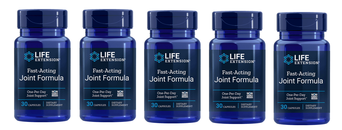 Life Extension Fast-Acting Joint Formula, 30 Capsules, 5-pack