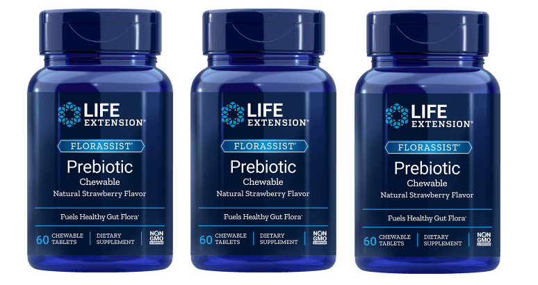 Life Extension Florassist Prebiotic Chewable, 3-pack