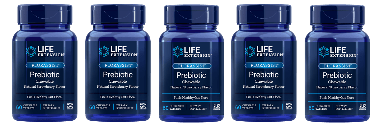 Life Extension Florassist Prebiotic Chewable, 5-pack
