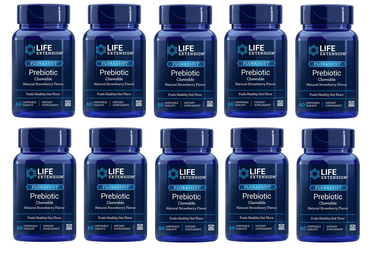 Life Extension Florassist Prebiotic Chewable,10-pack