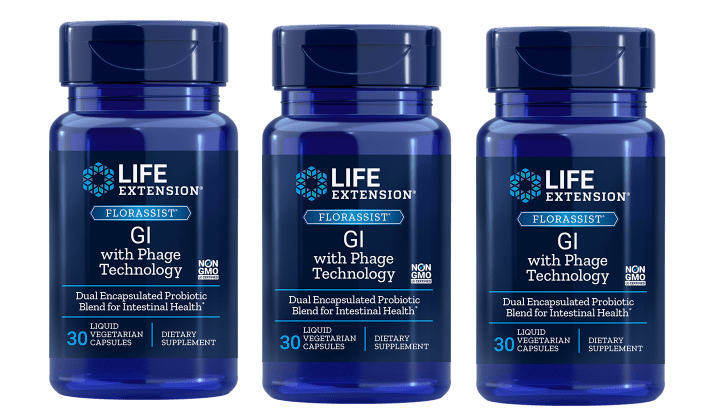 Life Extension Florassist® Gi With Phage Technology, 3-pack