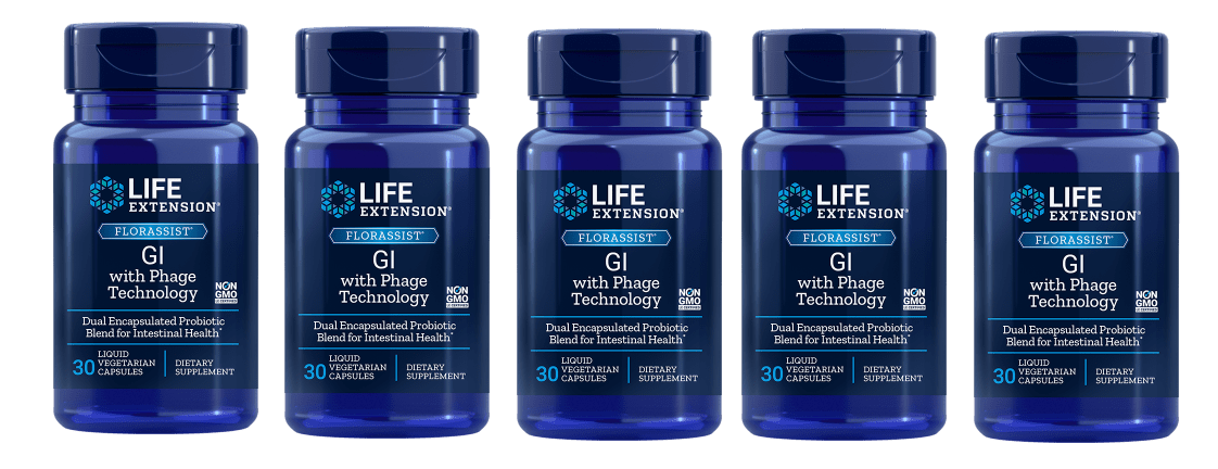 Life Extension Florassist® Gi With Phage Technology, 5-pack