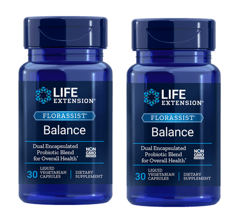 Life Extension Florassist® Balance, 30 Liquid Vegetarian Capsules, 2-packs