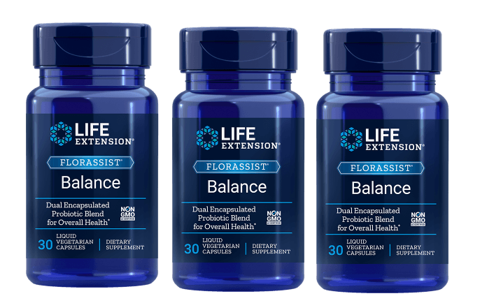 Life Extension Florassist® Balance, 30 Liquid Vegetarian Capsules, 3-packs
