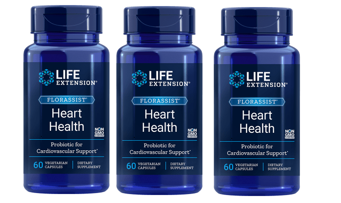 Life Extension Florassist® Heart Health Probiotic, 3-pack