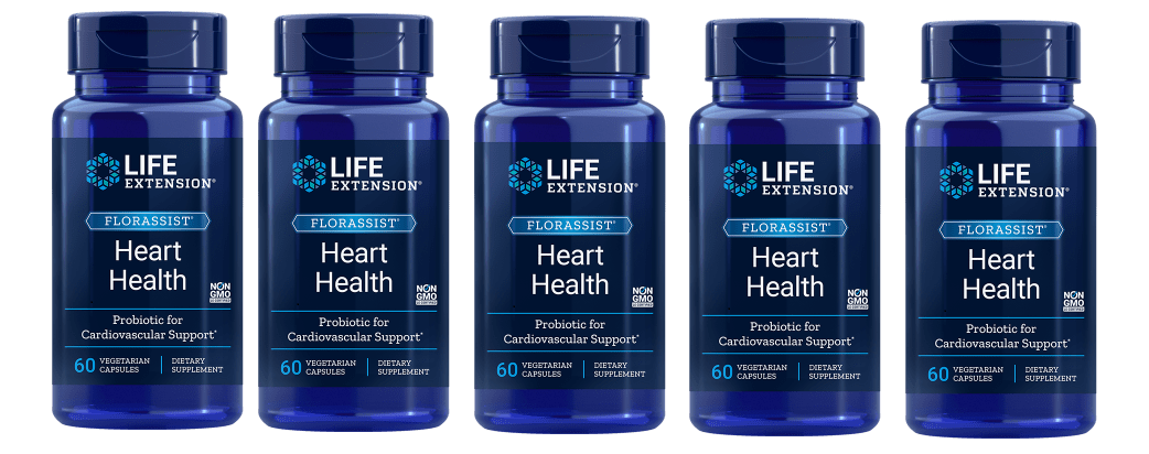 Life Extension Florassist® Heart Health Probiotic, 5-pack