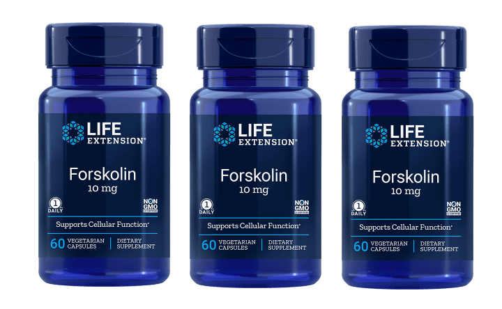 Life Extension Forskolin, 10 Mg 60 Vegetarian Capsules, 3-pack