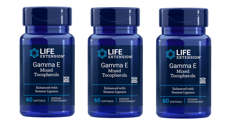 Life Extension Gamma E Mixed Tocopherols, Enhanced With Sesame Lignans, 3-pack