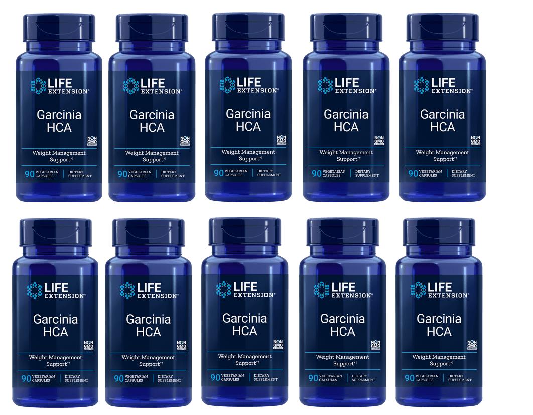 Life Extension Garcinia HCA, 90 Vegetarian Capsules, 10-pack