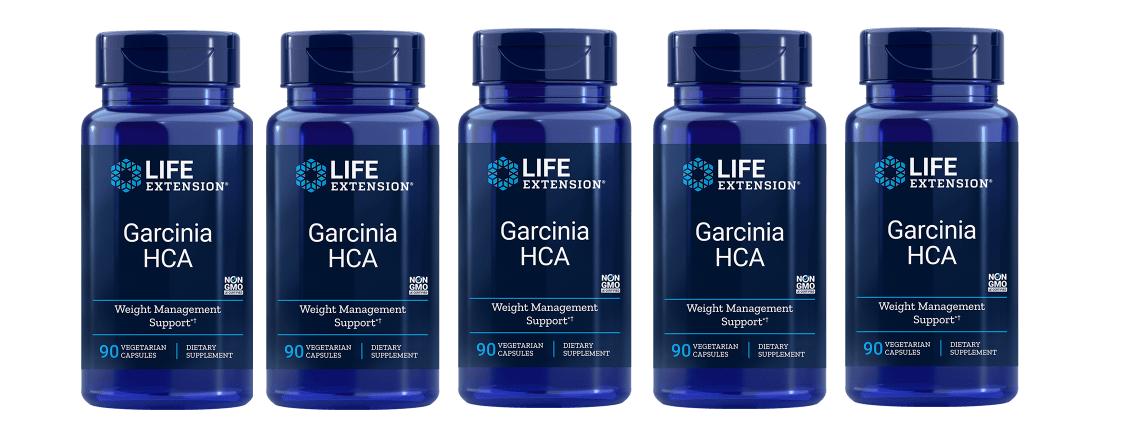 Life Extension Garcinia HCA, 90 Vegetarian Capsules, 5-pack
