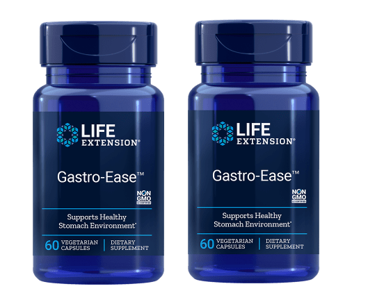Life Extension Gastro-ease, 60 Vegetarian Capsules, 2-pack