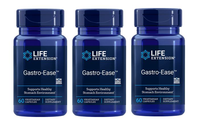 Life Extension Gastro-ease, 60 Vegetarian Capsules, 3-pack