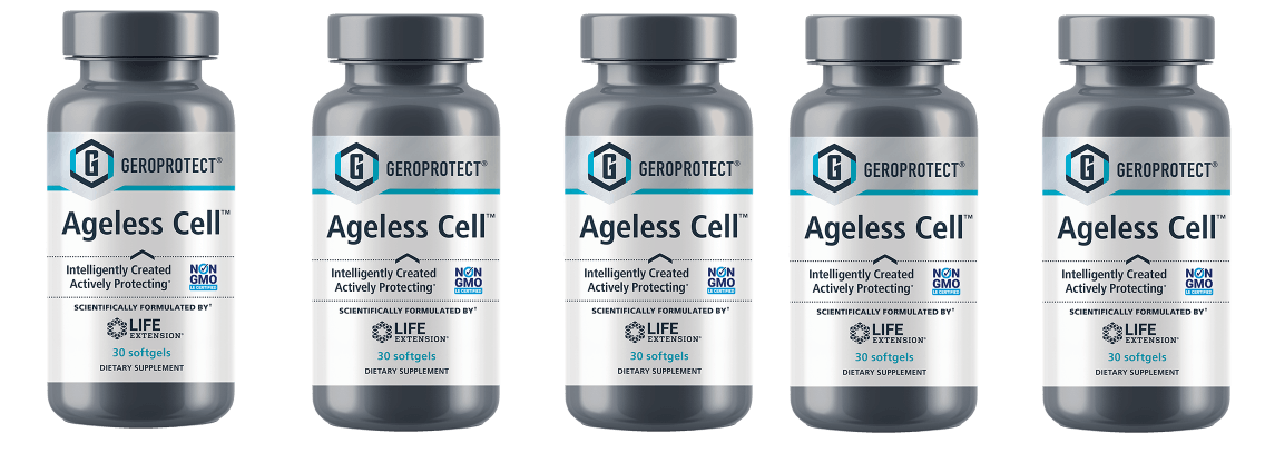 Life Extension Geroprotect Ageless Cell, 30 Softgels, 5-pack