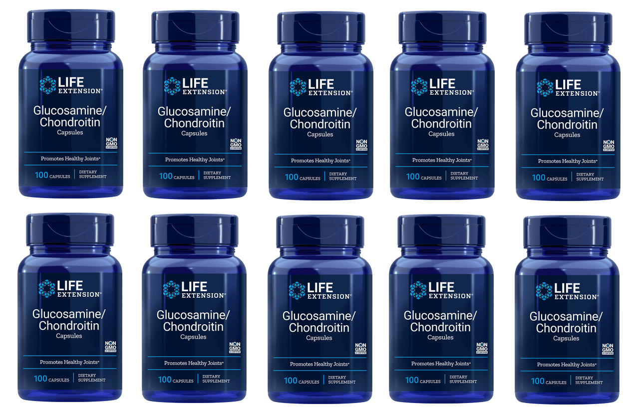 Life Extension Glucosamine/Chondroitin Capsules (100 Capsules), 10-packs