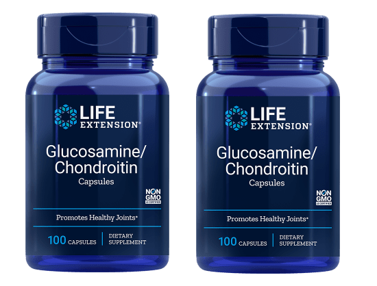 Life Extension Glucosamine/Chondroitin Capsules (100 Capsules), 2-packs