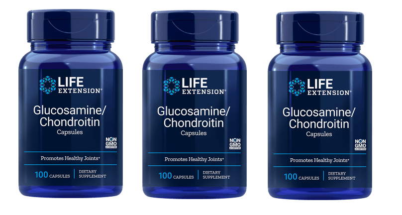 Life Extension Glucosamine/Chondroitin Capsules (100 Capsules), 3-packs