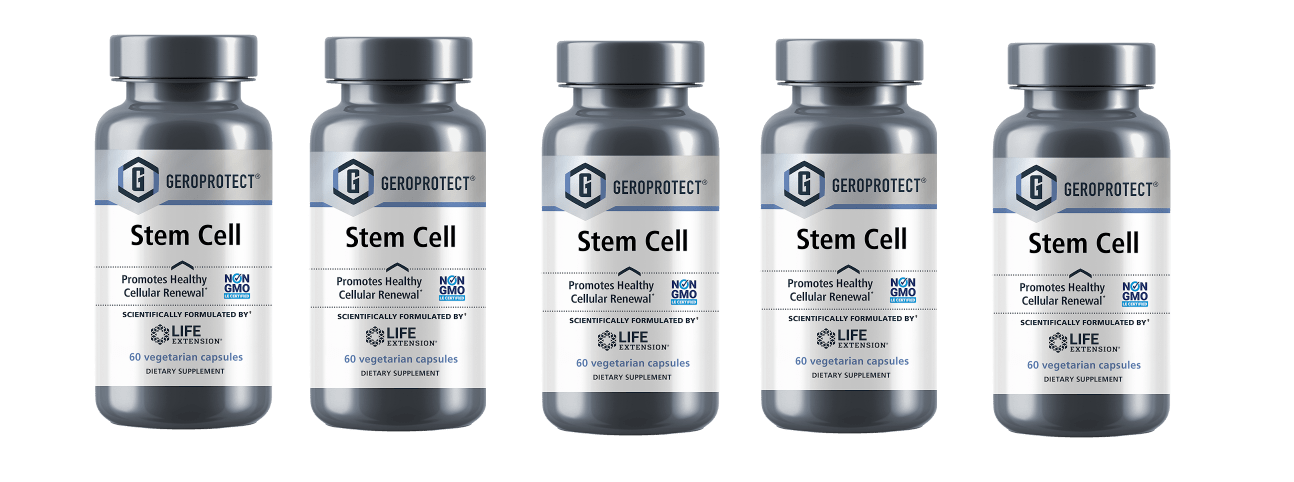 Life Extension Geroprotect® Stem Cell, 60 Vegetarian Capsules, 5-pack