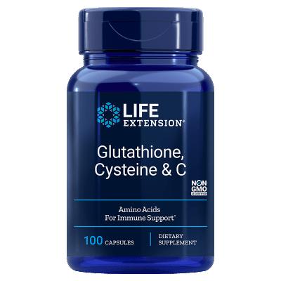Life Extension Glutathione, Cysteine & C, 100 Capsules