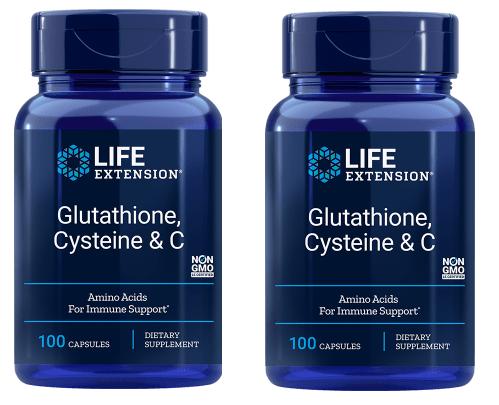 Life Extension Glutathione, Cysteine & C, 2-pack