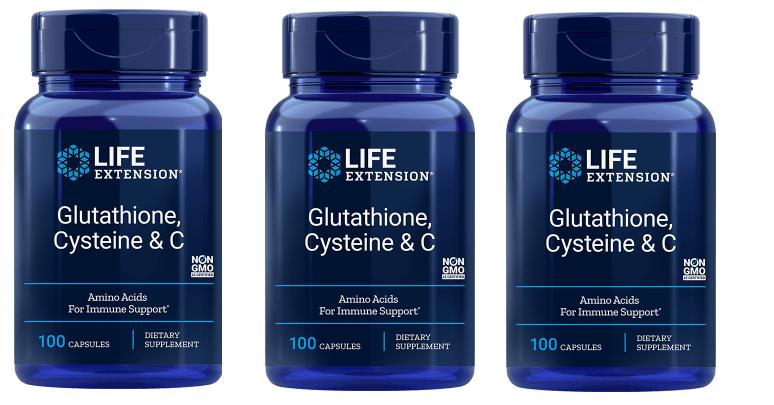 Life Extension Glutathione, Cysteine & C, 3-pack
