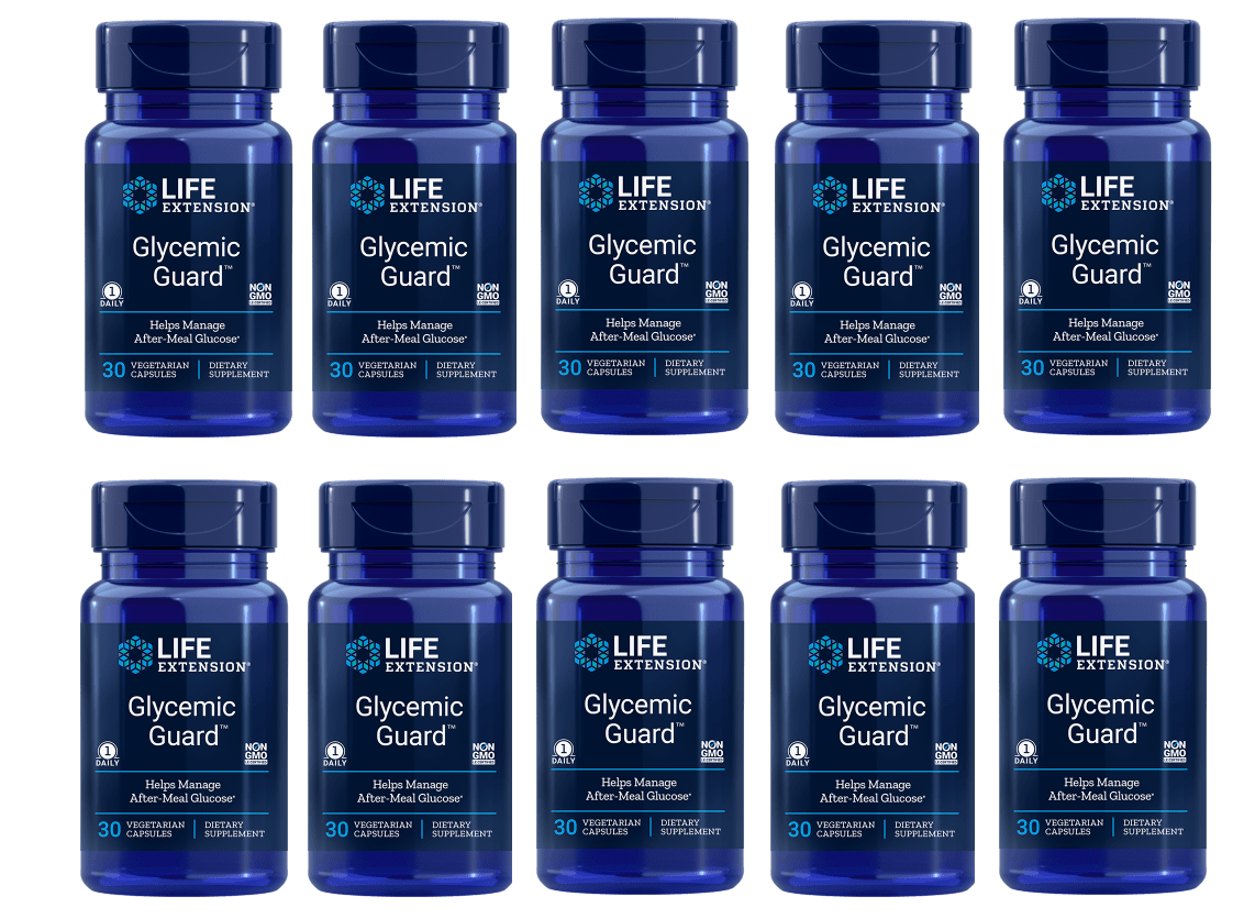 Life Extension Glycemic Guard, 30 Vegetarian Capsules, 10-pack