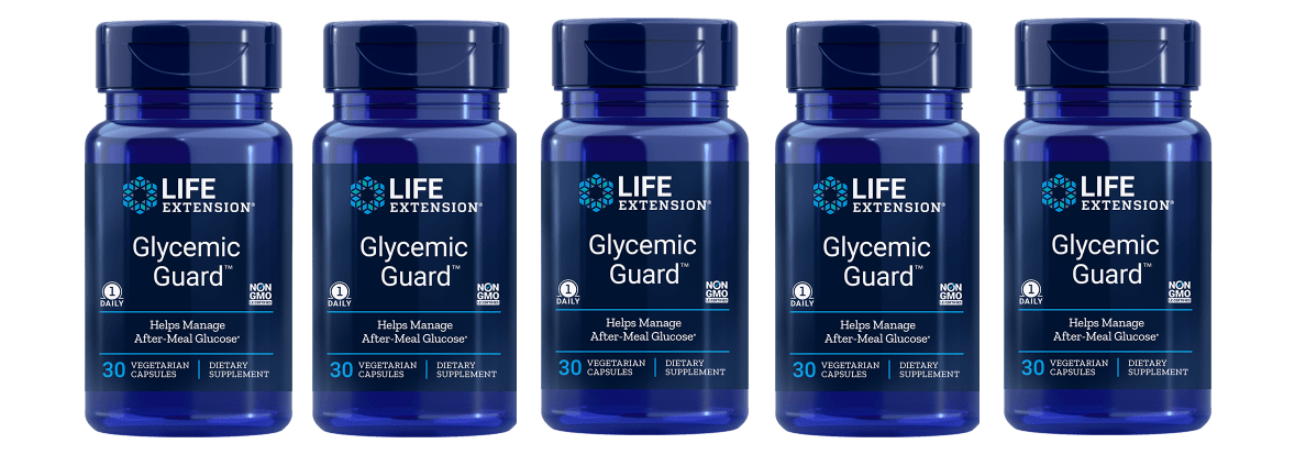 Life Extension Glycemic Guard, 30 Vegetarian Capsules, 5-pack