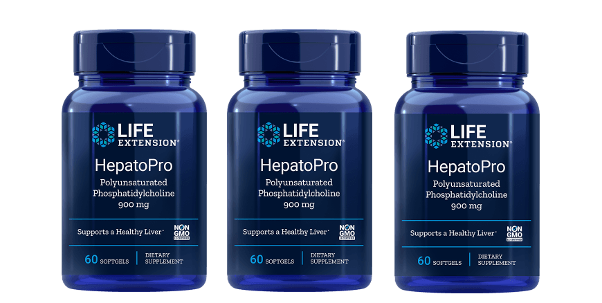 Life Extension HepatoPro (polyunsaturated Phosphatidylcholine), 900 Mg 60 Softgels, 3-pack