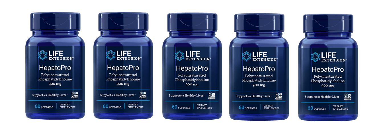 Life Extension HepatoPro (polyunsaturated Phosphatidylcholine), 900 Mg 60 Softgels, 5-pack