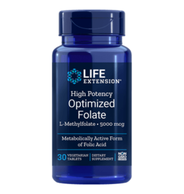 Life Extension High Potency Optimized Folate (L-Methylfolate), 5000 mcg