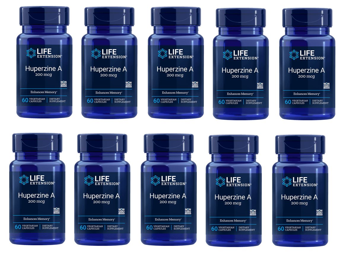 Life Extension Huperzine A, 60 Vegetarian Capsules, 10-pack