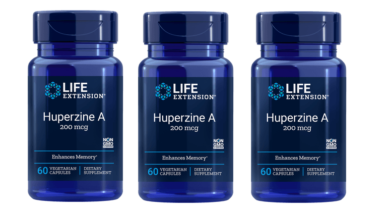 Life Extension Huperzine A, 60 Vegetarian Capsules, 3-pack
