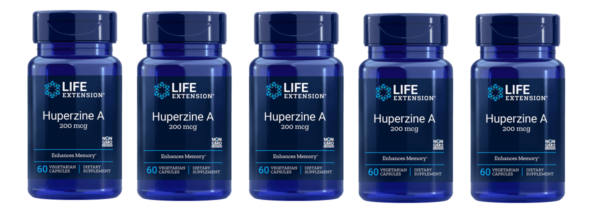 Life Extension Huperzine A, 60 Vegetarian Capsules, 5-pack