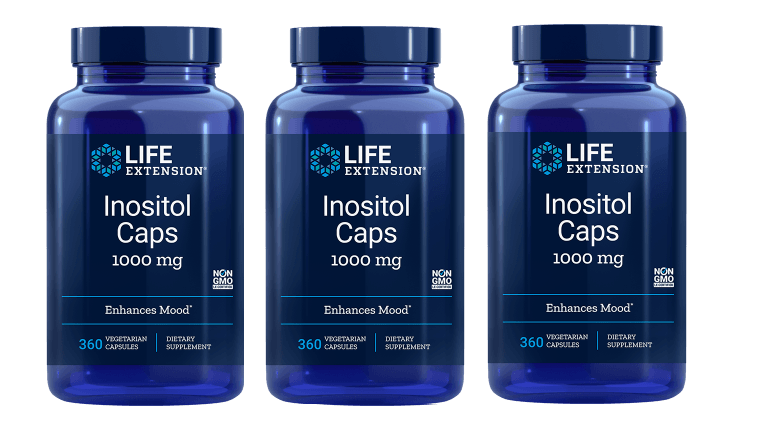 Life Extension Inositol Caps, 1000 Mg, 3-pack