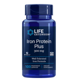 Life Extension Iron Protein Plus, 300 Mg 100 Capsules