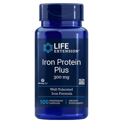 Life Extension Iron Protein Plus, 300 Mg 100 Capsules