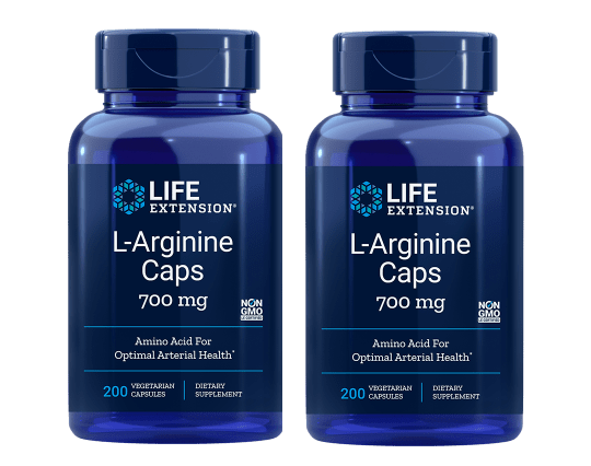 Life Extension L-Arginine Caps, 700 Mg 200 Vegetarian Capsules, 2-pack