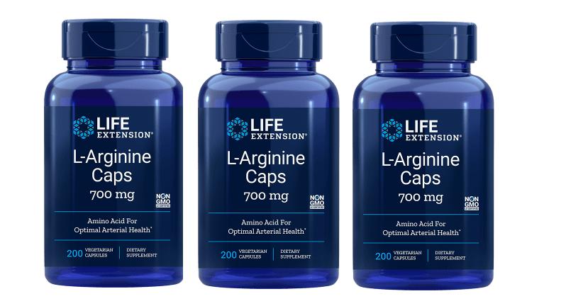 Life Extension L-Arginine Caps, 700 Mg 200 Vegetarian Capsules, 3-pack