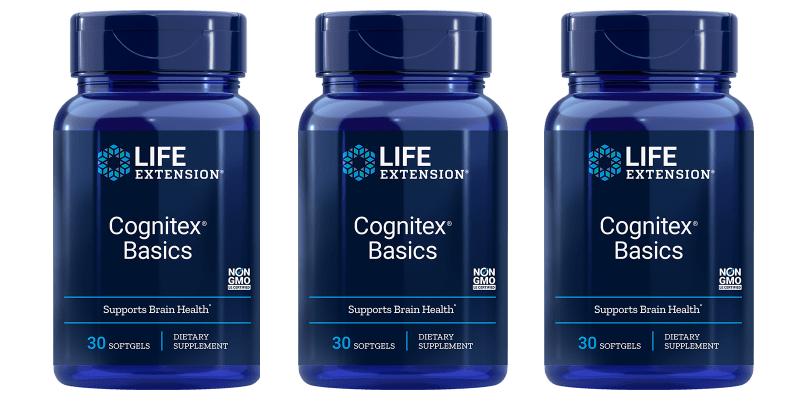 Life Extension Cognitex Basics, 3-pack