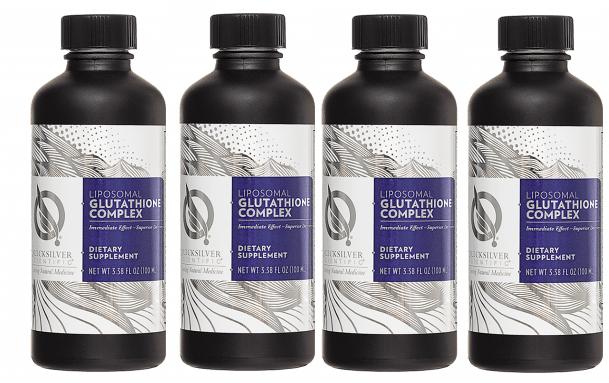 Quicksilver Scientific Liposomal Glutathione Complex, 100 ml, 4-pack