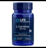 Life Extension L-Carnitine, 500 Mg 30 Vegetarian Capsules, 3-pack