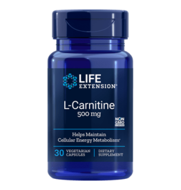 Life Extension L-Carnitine, 500 Mg 30 Vegetarian Capsules, 10-pack