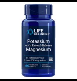Life Extension Potassium With Extend-Release Magnesium, 60 Vegetarian Capsules, 3-packs