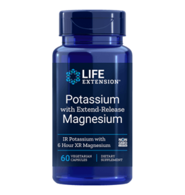 Life Extension Potassium With Extend-Release Magnesium, 60 Vegetarian Capsules, 10-packs