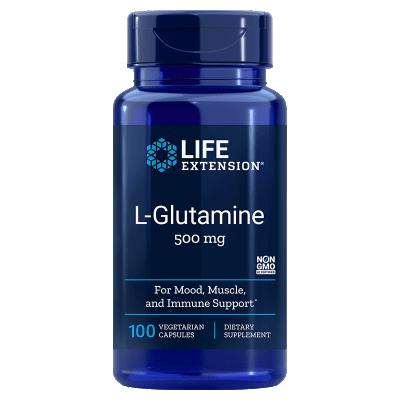 Life Extension L-Glutamine, 500 mg, 100 Vegetarian Capsules