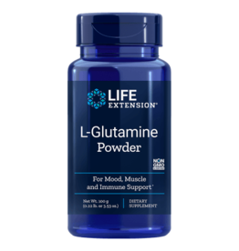 Life Extension L-Glutamine Powder, 100 Grams