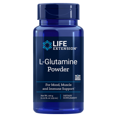 Life Extension L-Glutamine Powder, 100 Grams